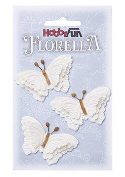 Hobbyfun-Florelia-fjäril vit