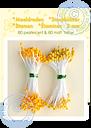 Leane Creatief - Pistiller - gul/orange