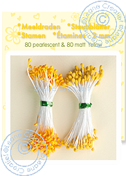 Leane Creatief - Pistiller - gul/orange