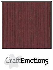Cardstock - Linen  mahogny 10-pack