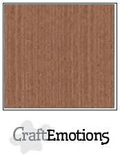 Cardstock - Linen  terra brown 10-pack
