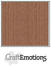 Cardstock - Linen  terra brown 10-pack