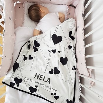 Personalisierte Babydecke- HEART'S