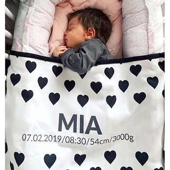 Personalised Baby Blankets - SMALL HEARTS