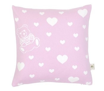 Pillows with hearts and names