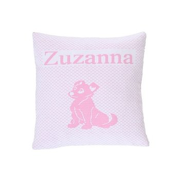 "Pillow  ""Cat & Dog"" with name"