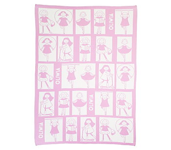 "Baby Blankets ""Girls"". 90 x120 cm"