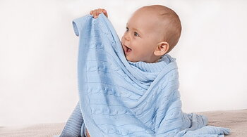 Baby Blanket. soft 100% organic cotton.