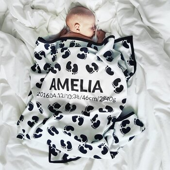 Personalised Baby Blankets - FOOTER