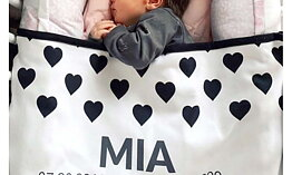 SCANDI BLACK & WHITE-Baby filt