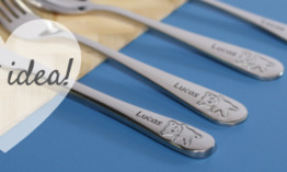 Personalised childrens cutlery