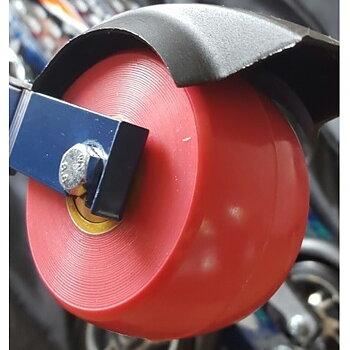 Elpex 50 mm Bakhjul PU komplett (2) Standard