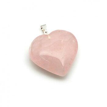 Halsbandshänge - Hjärta i Rosenkvarts