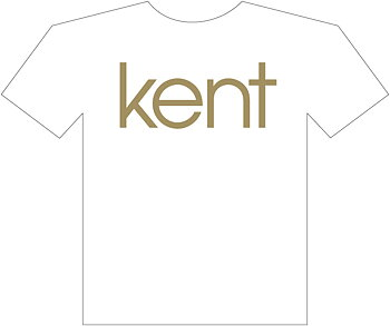 KENT - T-SHIRT, GOLD LOGO 2012 (WHITE)