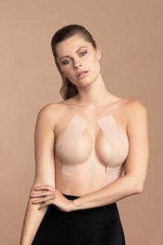 Brösttejp på rulle -  silk nipplecovers - nude