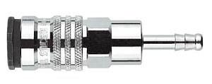 SnabbKoppling, stål, För slang med  diameter 8mm (5/16)