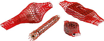 Skyddsnät, plast, 80-130mm diameter 100 meter, röd