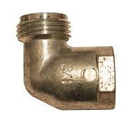 Vinkelkoppling utv/inv 1/2 Plan anslutning aluminium