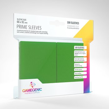 GameGenic Prime Sleeves Green 100 Pack (64x89mm)