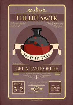 HP- health potion Poster (A3)
