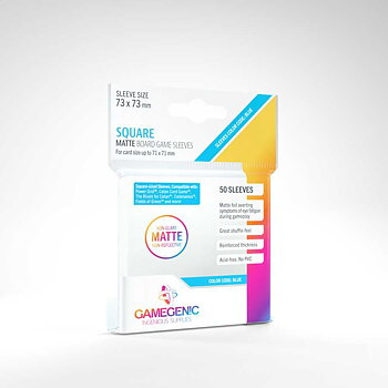 """Gamegenic Card Sleeves """"Square"""" 73 x 73mm - Matte (50)"""