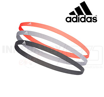 ADIDAS Hairband 3-pack dark grey/grey/coral
