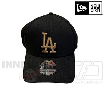 New Era LA Dodgers 39thirty MLB basic black gold