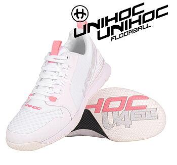 Unihoc U4 PLUS LowCut Women white/pink