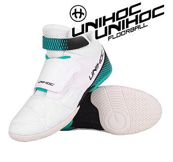 Unihoc U4 Goalie white/turquoise