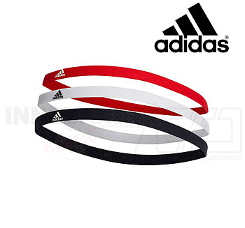 ADIDAS Hairband 3-pack black/white/red