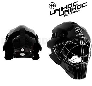 Unihoc Goalie Mask 66 Optima all black