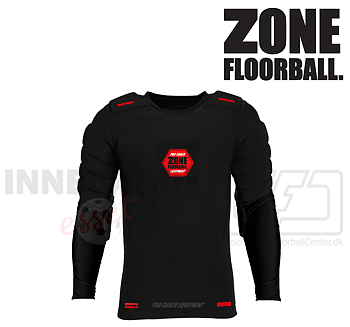 Zone Goalie T-shirt Pro LS black/red