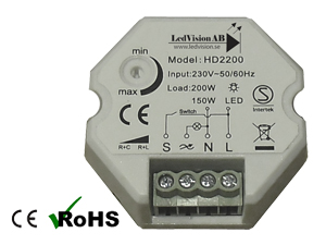 Led Dosdimmer 230VAC 150W Push