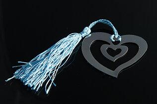 Gulligt bokmärke hjärta