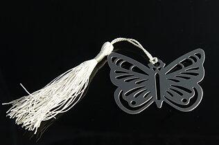 Gulligt bokmärke fjäril