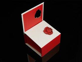 Presentask med ros