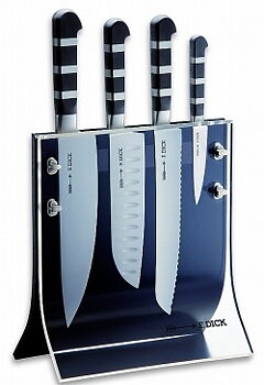 Knife block Dick 8197200 with 4 knives (magnetic/plexi)