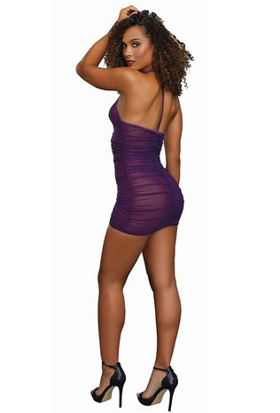 Mesh Chemise with G-string