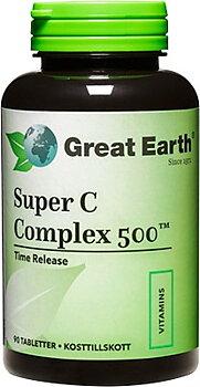 Great Earth Super C Complex (Витамин С), 500 мг, 90 таблеток