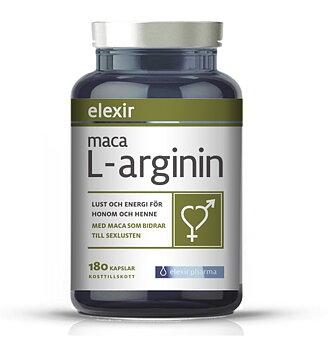 Elexir Maca L-arginin для увеличения полового влечения, 180 капсул