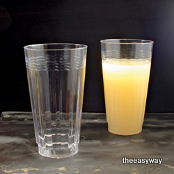 Engångs Räfflade drickglas. 20 st.