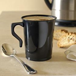 Kaffemuggar. Svart 10 st