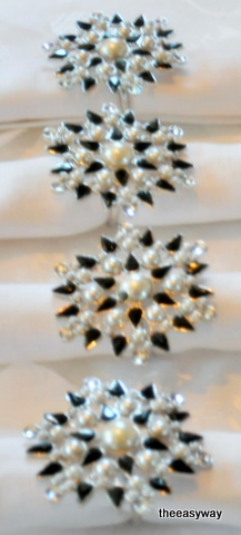 Napkin Rings Star. 6 pieces