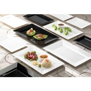 Disposable Rectangle side plate. White. 10 Pieces.