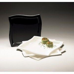 Square Waves. Dinner plate. White 10 pcs.