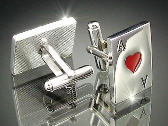 Cufflinks Royal  Heart Ace