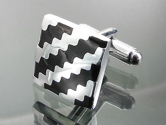 Cufflinks Black and White