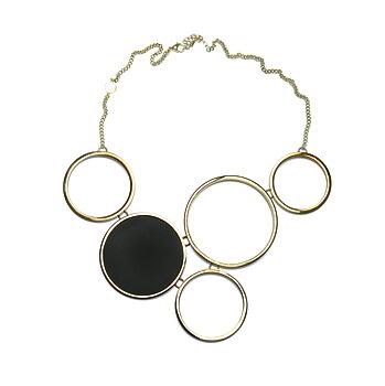Luna Golden Statement Necklace