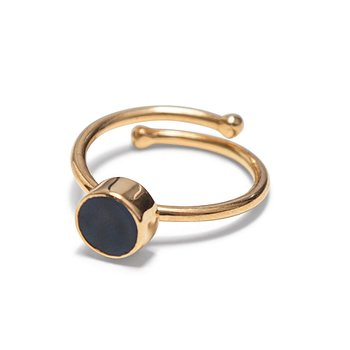 Swedish Grace Golden Midnatt Ring - Nu 30% off