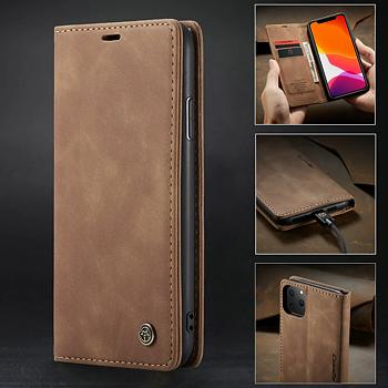 """Plånboksfodral """"Retro"""" till iphone 11, 11 Pro och 11 Pro Max med magnetlås"""